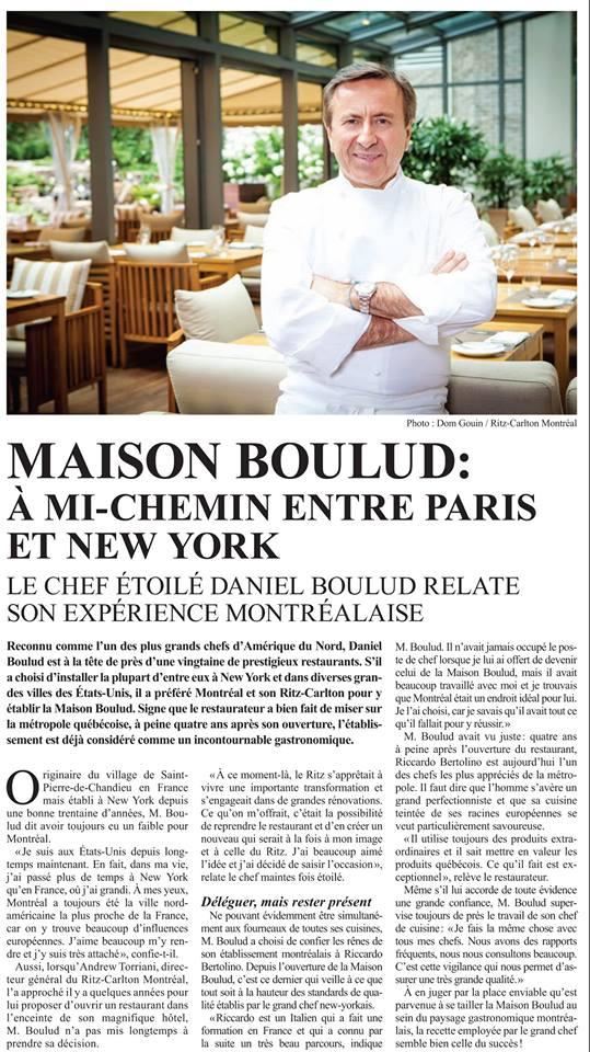 Maison Boulud: À mi-chemin entre Paris et New-York