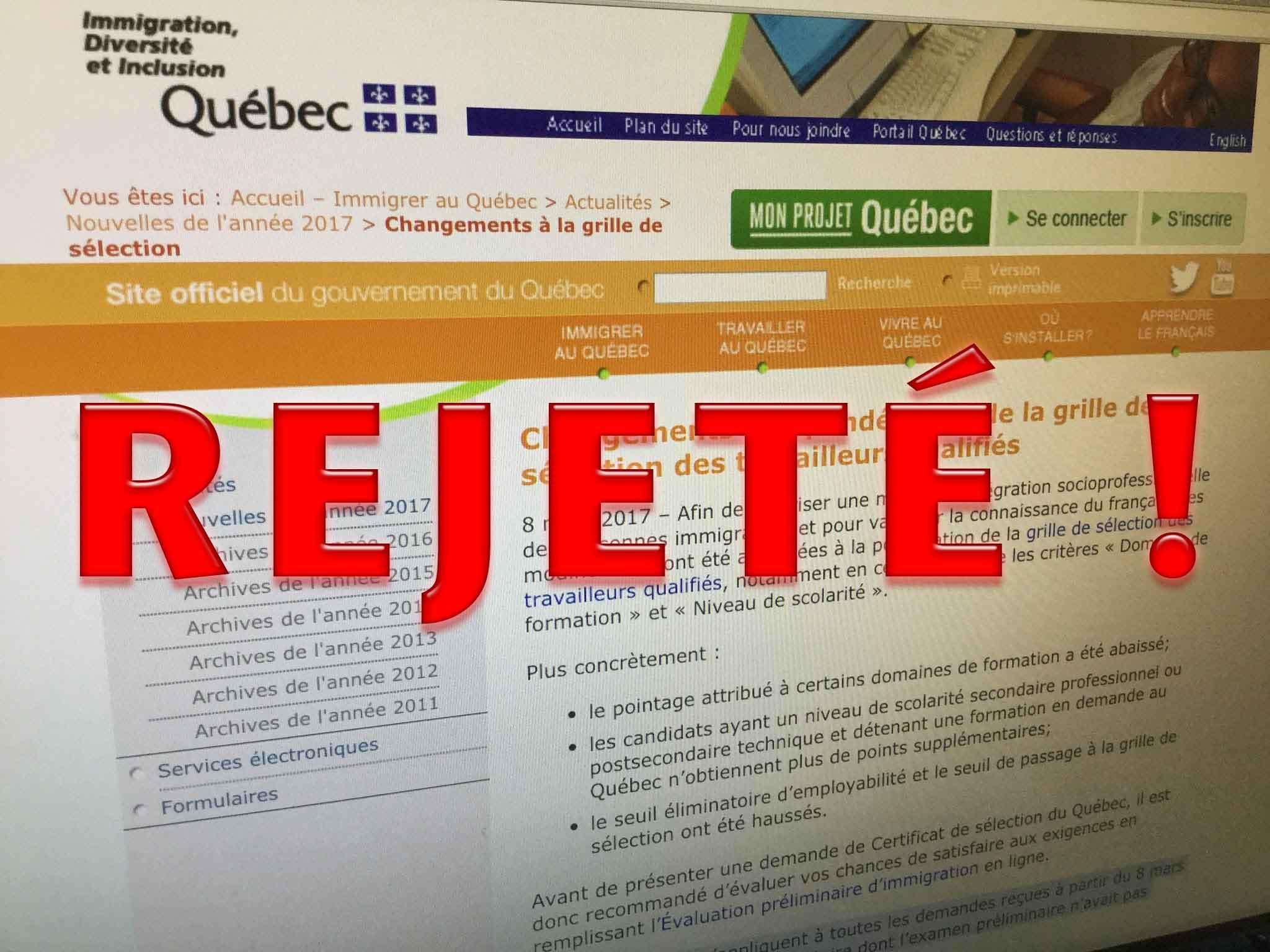 Changements Des Criteres D Immigration Au Quebec Ce Qu Il Faut